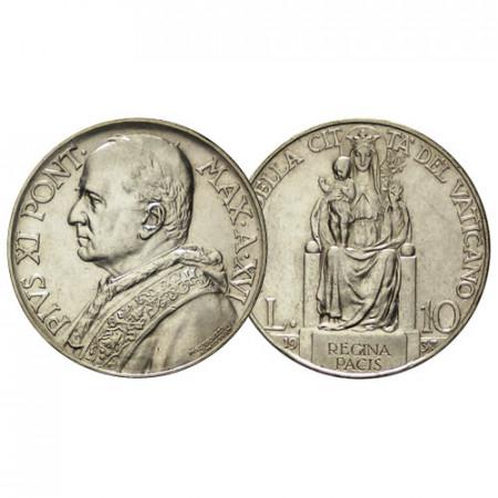"""1937 XVI * 10 Lire Argento Vaticano """"Pio XI - Madonna della Pace"""" (KM 8 G 19) SPL"""