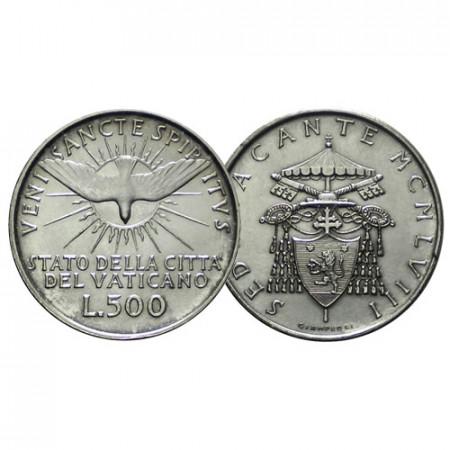 "1958 * 500 Lire Argento Vaticano ""Sede Vacante - Con Accento"" (KM 57 G 261) SPL+"