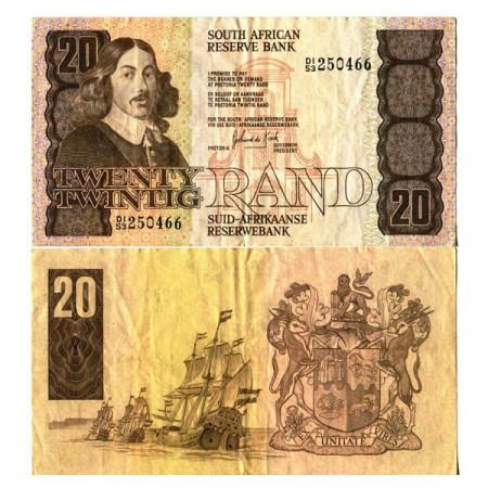 "ND (1982-85) * Banconota Sudafrica 20 Rand ""Jan van Riebeeck"" (p121c) BB+"