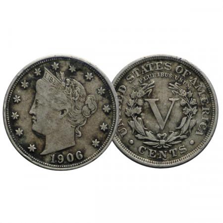 """1906 * 5 Cents Stati Uniti """"Liberty Nickel"""" (KM 112) BB"""