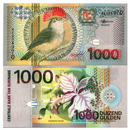 "2000 * Banconota Suriname 1000 Gulden ""Royal Flycatcher"" (p151) FDS"