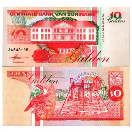 """1991 * Banconota Suriname 10 Gulden """"Central Bank - Paramaribo"""" (p137a) FDS"""