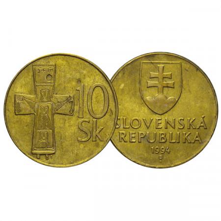 """1994 * 10 Korun Slovacchia """"Bronze Cross"""" (KM 11) BB"""