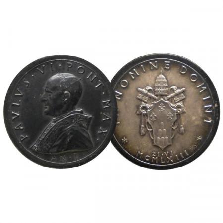 """1963 * Medaglia VATICANO """"Paolo VI - Anno I Elevazione - Opus Giampaoli"""" SPL"""