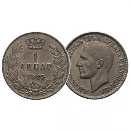 "1925 * 1 Dinar Jugoslavia ""Aleksandar I"" (KM 5) UNC"