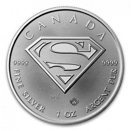 "2016 * 5 Dollari Argento 1 OZ Canada ""Superman"" FDC"