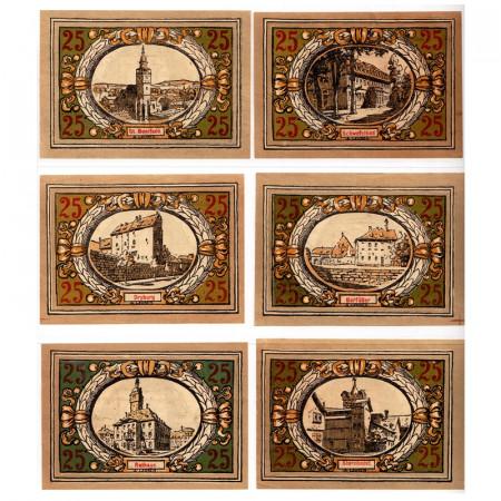"1921 * Set 6 Notgeld Germania 25 Pfennig ""Turingia - Langensalza"" (770.1)"