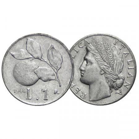 """1946 * 1 Lira Italia Repubblica """"Arancia"""" (KM 87 G 361) qBB"""
