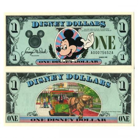"1988 * Banconota Disney 1 Disney Dollar ""Mickey Mouse"" (px) FDS"