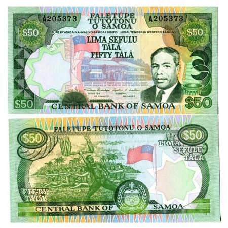 "ND (ca1990) * Banconota Samoa 50 Tala ""Western - M Tanumafili II"" (p29) FDS"