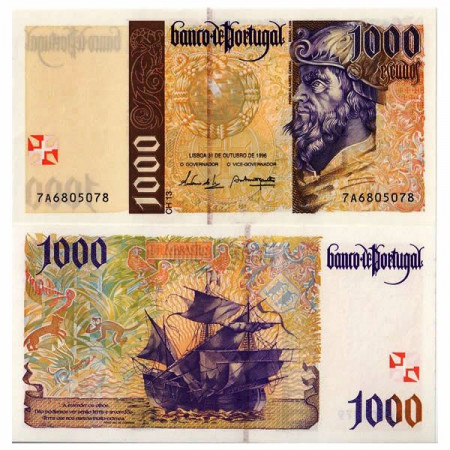 "1996 * Banconota 1000 Escudos Portogallo ""Pedro Álvares Cabral"" (p188b) FDS"