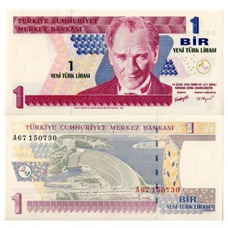 "2005 * Banconota Turchia 1 New Lira ""Kemal Atatürk"" (p216) FDS"