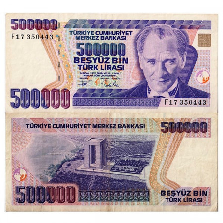 "L.1970 (1993) * Banconota Turchia 500.000 Lira ""Kemal Atatürk"" (p208) BB"