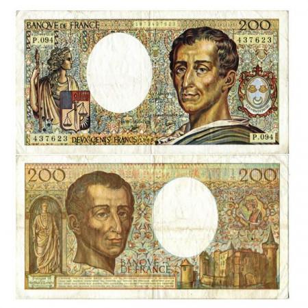 """1990 * Banconota Francia 200 Francs """"Baron de Montesquieu"""" (p155d) BB+"""
