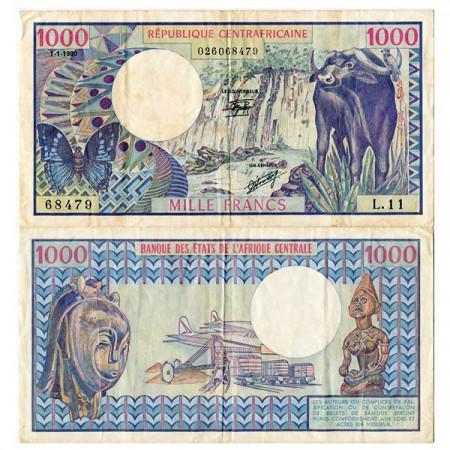 1980 * Banconota Repubblica Centrafricana 1000 Francs (p10) BB