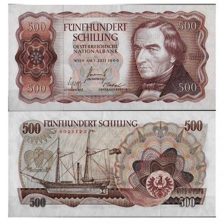 "1965 * Banconota Austria 500 Schilling ""Joseph Ressel"" (p139a) qFDS"
