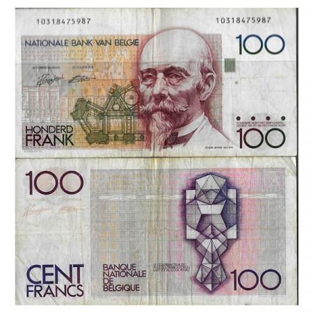"ND (1982-94) * Banconota Belgio 100 Francs ""H Beyaert"" (p142a) MB"
