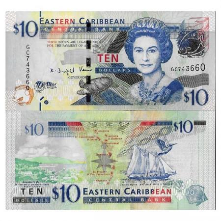 "ND (2012) * Banconota East Caribbean States 10 Dollars ""Elizabeth II"" (p52b) FDS"