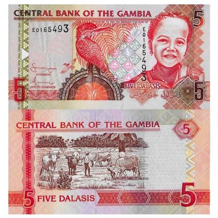 "ND (2006) * Banconota Gambia 5 Dalasis ""Giant Kingfisher"" (p25a) FDS"