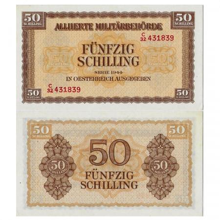 "1944 * Banconota Austria 50 Schilling ""Military Occupation - WWII"" (p109) qFDS"