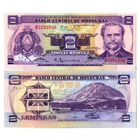 "1976 * Banconota Honduras 2 Lempiras ""Marco Aurelio Soto"" (p61) FDS"