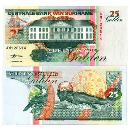 "1998 * Banconota Suriname 25 Gulden ""Central Bank - Paramaribo"" (p138b) FDS"