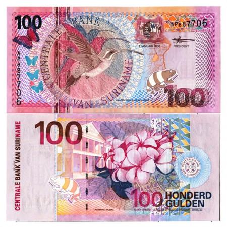 "2000 * Banconota Suriname 100 Gulden ""Central Bank - Paramaribo"" (p149) FDS"