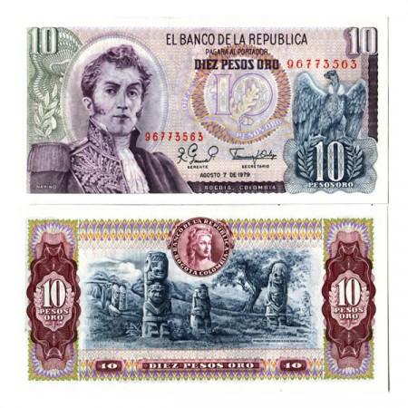 "1979 * Banconota Colombia 10 Pesos Oro ""Antonio Narino"" (p407g) FDS"