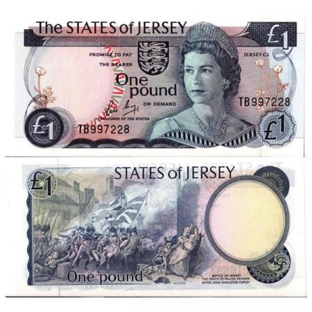 "ND (1976-88) * Banconota Isola di Jersey 1 Pound ""Elizabeth II"" (p11b) FDS"