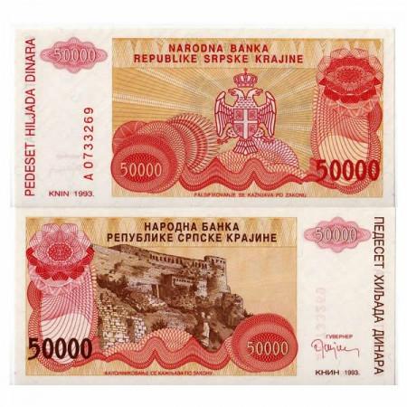 "1993 * Banconota Croazia 50.000 Dinara ""Krajina - Knin"" (pR21) FDS"