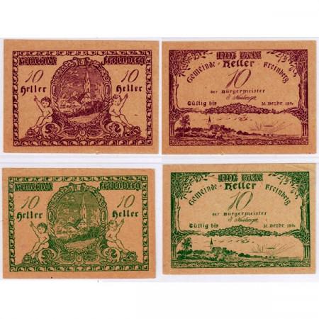 "1920 * Set 2 Notgeld Austria 10 Heller ""Alta Austria – Freinberg"" (FS 211Ib)"