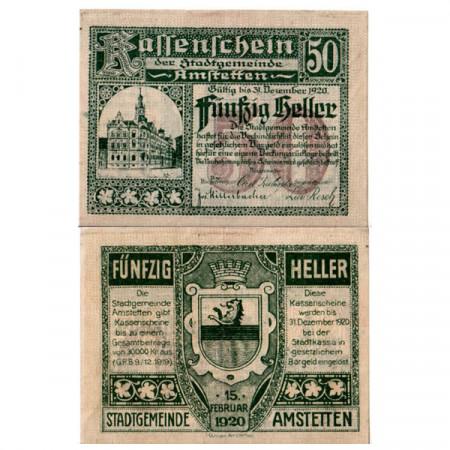 "1920 * Notgeld Austria 50 Heller ""Bassa Austria – Amstetten"" (FS 37Ia)"