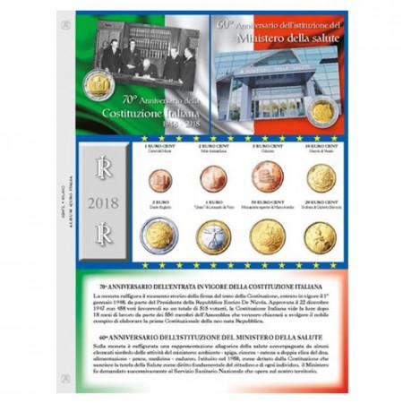 Foglio + Tasca Monete Euro ITALIA 2018 * ABAFIL