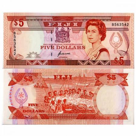"ND (1992) * Banconota Fiji 5 Dollars ""Elizabeth II"" (p93a) FDS"