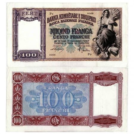 "ND (1940) * Banconota Albania 100 Franga ""Occupazione Italiana"" (p8) BB"