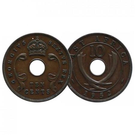 "1952 * 10 Cents Africa Orientale Britannica - British East Africa ""Giorgio VI"" (KM 34) BB+"