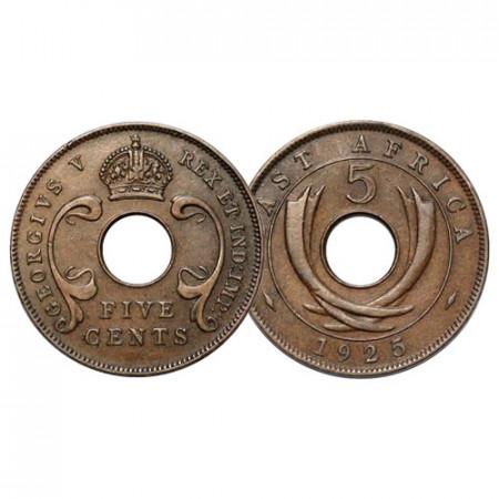 "1925 * 5 Cents Africa Orientale Britannica - British East Africa ""Giorgio V"" (KM 18) SPL"