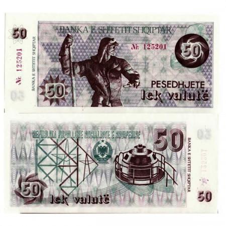 "ND (1992) * Banconota Albania 50 Lek Valute (2500 Leke) ""Steelworker"" (p50a) FDS"