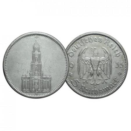 "1935 A * 5 Reichsmark Argento GERMANIA ""Terzo Reich - Regole Naziste"" (KM 83) BB"