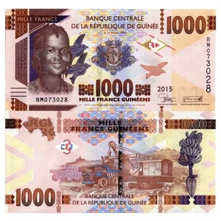 """2015 * Banconota Guinea 1000 Francs Guinéens """"Woman"""" (pNew) FDS"""