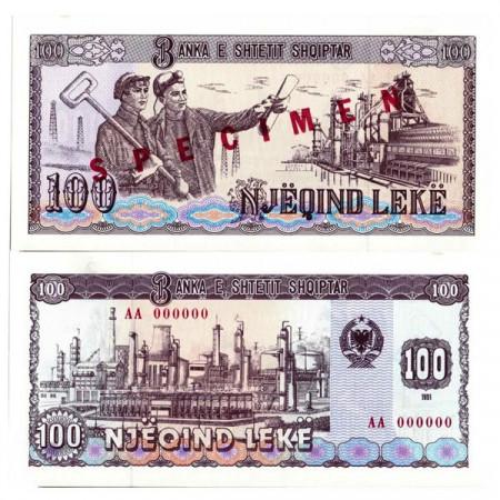 "1991 * Banconota Albania 100 Leke ""Steel Workers - Specimen"" (p47s) FDS"
