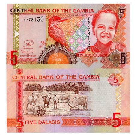 "ND (2006) 2013 * Banconota Gambia 5 Dalasis ""Giant Kingfisher"" (p25) FDS"