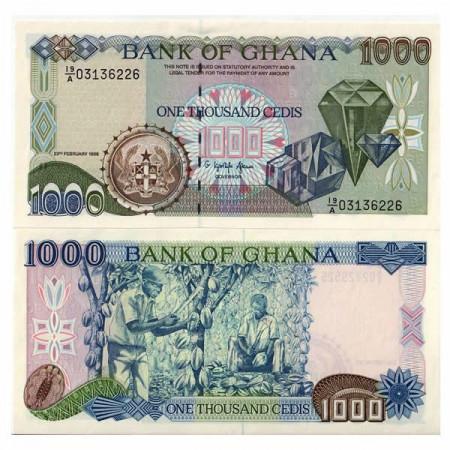 "1996 * Banconota Ghana 1000 Cedis ""Diamonds"" (p29b) FDS"