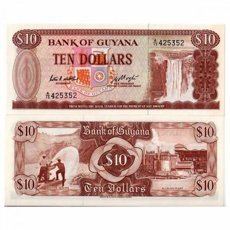 "ND (1966-92) * Banconota Guyana 10 Dollars ""Kaieteur Falls"" (p23c) FDS"