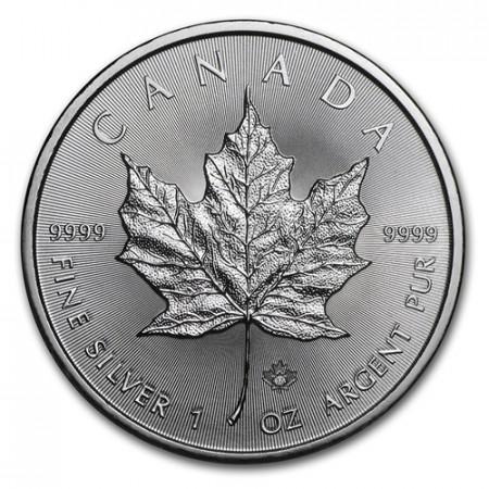 "2017 * 5 Dollari Argento 1 OZ Canada ""Foglia Acero - Maple Leaf"" FDC"