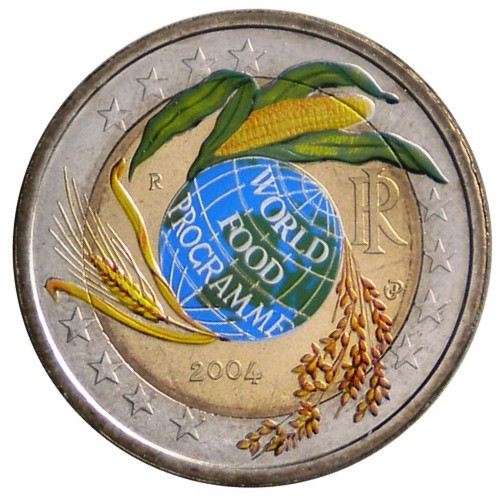 2004 2 Euro Italia World Food Programme Colorato Mynumi