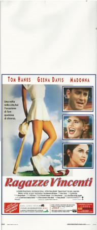 """1992 * Movie Playbill """"Ragazze Vincenti - Madonna, Geena Davis, Tom Hanks"""" Comedy (A-)"""