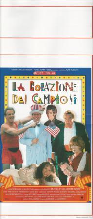 """1999 * Movie Playbill """"La Colazione Dei Campioni - Barbara Hershey, Bruce Willis"""" Comedy (A-)"""
