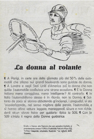 "1928 * Advertising Original ""La Donna Al Volante"" in Passepartout"