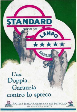 """1929 * Advertising Original """"Standard - Lampo - Una Doppia Garanzia"""" in Passepartout"""